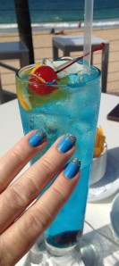 My nails match my drink!